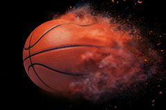 Basket ball speed effect isolated on black Royalty Free Stock Images