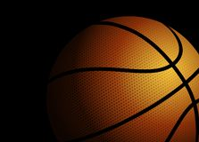 Basket-ball sur le fond noir illustration de vecteur