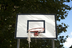 Basket ball table. Broken basket ball table, sad table Royalty Free Stock Photos