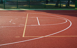 Basket ball terrain Royalty Free Stock Image