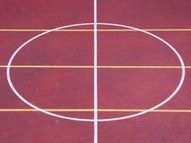 Basket ball terrain center Royalty Free Stock Photo