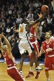 Basket-ball, tir de Yannick Bokolo Images libres de droits