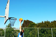 Basket-ball trempant Photos stock