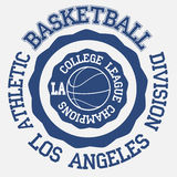 Basket ball typography, los angeles Royalty Free Stock Images