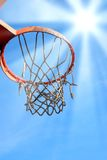 Basket ball under the sun Stock Images