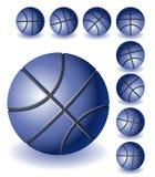 Basket-balls bleus Illustration de Vecteur