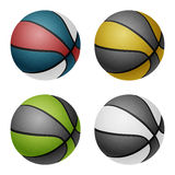 Basket-balls de couleur combinated par vecteur Image stock