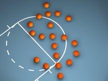 Basket-balls dessinant un symbole du dollar illustration libre de droits