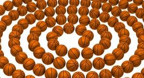 Basket-balls disposés dans une spirale Illustration Libre de Droits