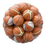 Basket balls isolated on white background Stock Image