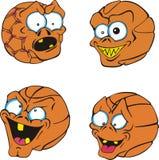 Basket-balls laids Photographie stock libre de droits