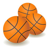 Basket-balls oranges Images stock