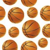 Basket balls Seamless pattern. Stock Photography