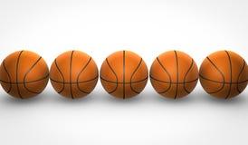 Basket-balls sur le fond blanc Illustration Libre de Droits
