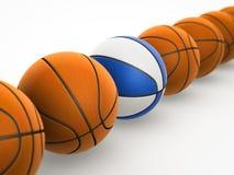 Basket-balls sur le fond blanc Illustration Stock