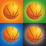 basket-balls tramés Illustration de Vecteur