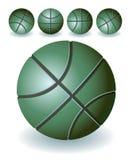 Basket-balls verts Illustration de Vecteur