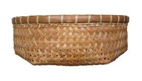 Basket bamboo. Hand made basket bamboomade in Thailand Stock Photos
