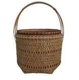 Basket bamboo. On white background Stock Image