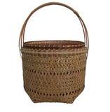 Basket bamboo Stock Image