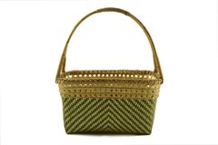 Basket from bamboo Stock Photography