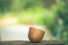 Basket with bamboo Stock Photography