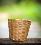 Basket with bamboo Stock Photos