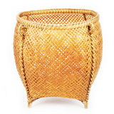 Basket from bamboo. On white background Stock Photography