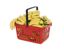 Basket with bananas Stock Image