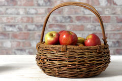 Basket with beautiful apples Royalty Free Stock Image