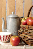 Basket with beautiful apples Stock Image
