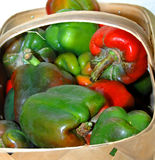 Basket of Bell Peppers Royalty Free Stock Photography