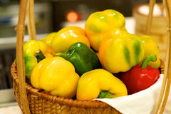 Basket of bell peppers Stock Image