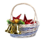 Basket and bells Royalty Free Stock Photography
