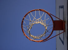 Basket. From below with blue sky Stock Photos