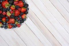 Basket of Berries in Corner Stock Images