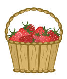 Basket with berries. On a white background Royalty Free Stock Photography