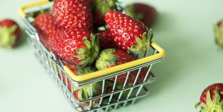 Basket, Berry, Breakfast Royalty Free Stock Photos