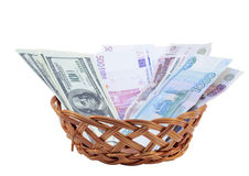 Basket with bill Royalty Free Stock Photo