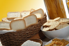 Basket biscuits Stock Photography