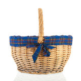 Basket with blue border Royalty Free Stock Image