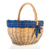 Basket with blue border Stock Photography