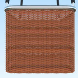 Basket on blue sky background, together with the burner. 3d rendering Royalty Free Stock Photo
