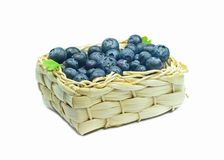 A basket of blueberries Stock Photos