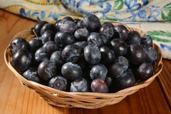 Basket of blueberries Stock Photography