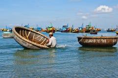Basket boat Stock Photos