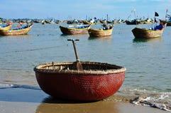 Basket boat Stock Images