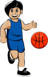Basket boy. This is a illustration of boy play basketball Royalty Free Stock Photo