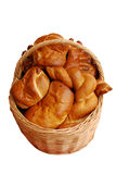 Basket with bread Royalty Free Stock Photos