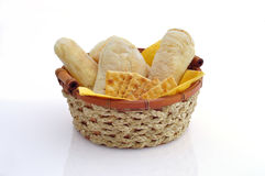 Basket of bread Stock Photo